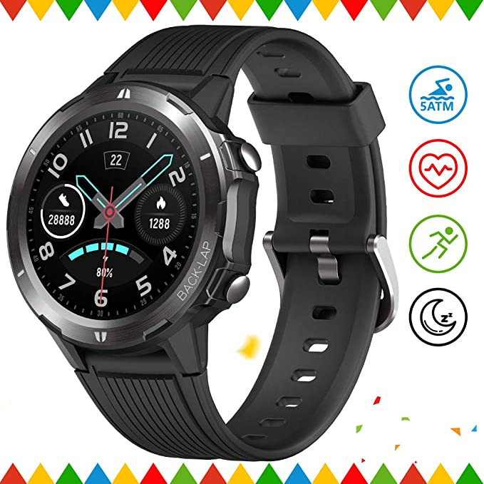 Activity Tracker Smartwatch for Men with Sleep Monitor All-Day Heart Rate