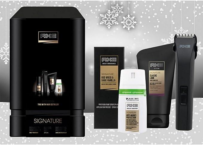 Estuche Axe con maquinilla para el pelo + Colonia Daily Fragrance + Desodorante + Gel para hombre: Amazon.es: Salud y cuidado personal