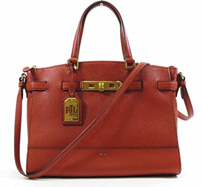 Ralph Lauren Ladies Leather Darwin Satchel Shoulder Buckle Bag Gift Red   Amazon.co.uk  Shoes   Bags 735935ae03