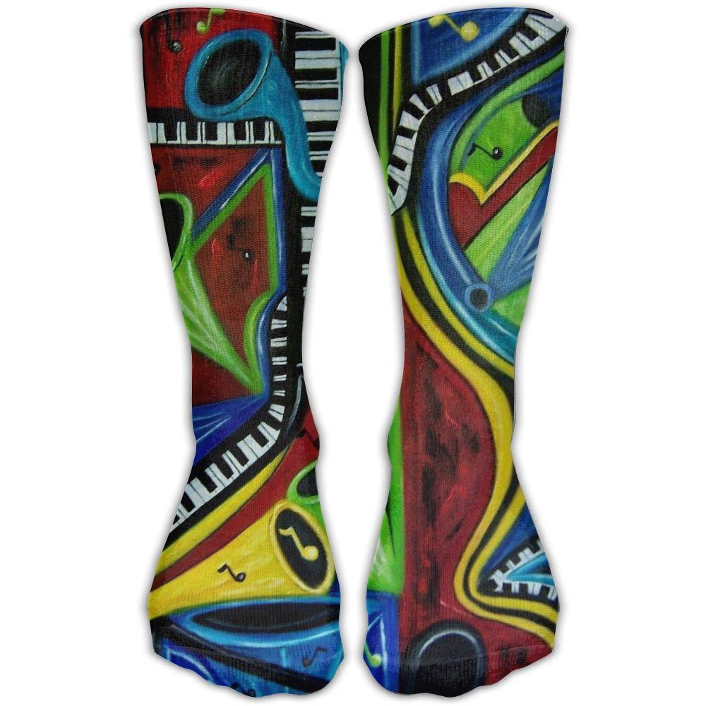 Protect Wrist For Cycling Moisture Control Elastic Sock Tube Socks Color Music Sax Athletic Soccer Socks