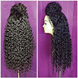 Lace Front Wigs For Black Women Synthetic Long Curly Wigs...