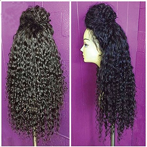 [Lace Front Wigs For Black Women Synthetic Long Curly Wigs With Baby Hair Heat Resistant Front Lace] (Curly Synthetic Hair)