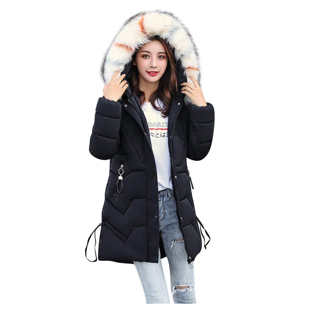 BBTshop Women Coats Jackets Outerwear Faux Fur Hooded Button Overcoat Hoodie Pocket Sweater Ladies Girls Long Sleeve Outwear Tops Sweatshirt Warm Trench Blouses Suit Blazer Shirt Tailcoat by BBTshop