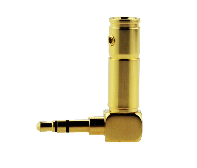"Black 4 Neutrik NTP3RC-B 3.5mm 1//8/"" TRS Stereo Right Angle Headphone Plug Gold"