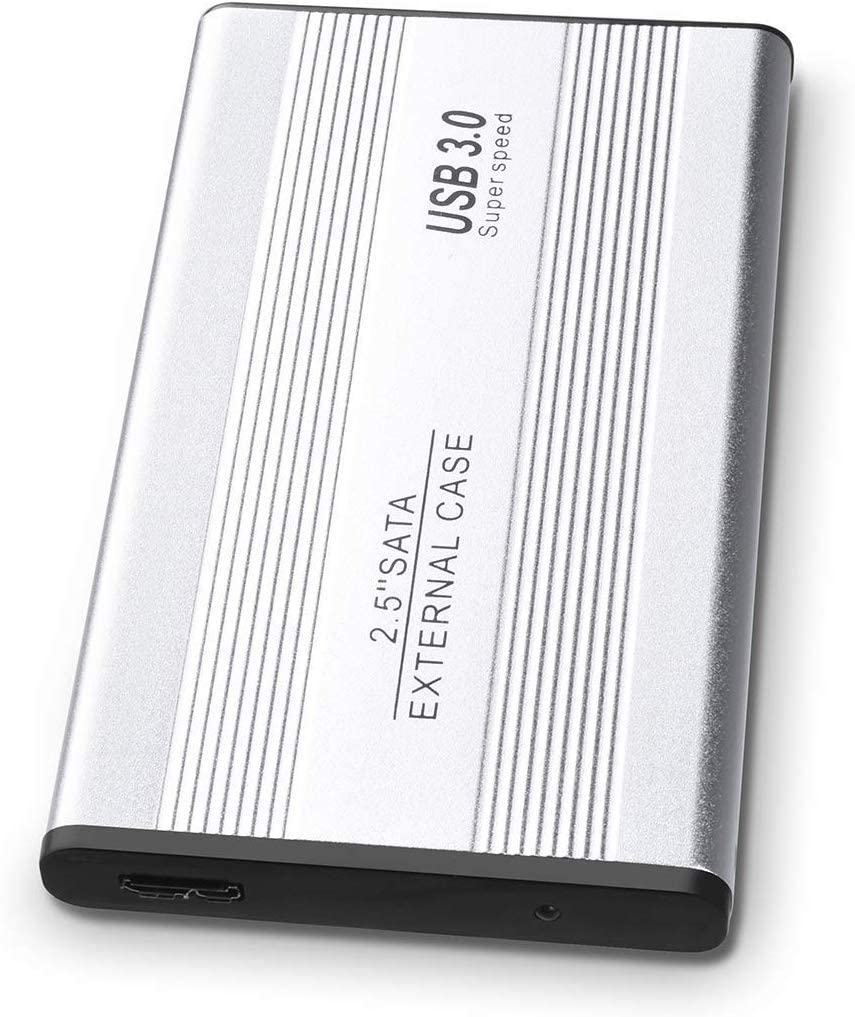 1TB 2TB External Hard Drive, Portable Hard Drive USB 3.0SlimCompatible with PC, Laptop and Mac (2TB, Silver)