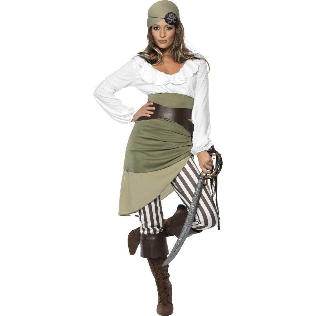 Damen Piraten Kostüm M 40/42 Piratinnenkostüm Piratinkostüm Freibeuterin Seeräuberin