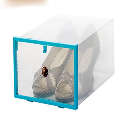 fengg2030shann plástico transparente caja de almacenamiento cajón de zapato simple integrado vivienda botas zapatos Shoe Sub
