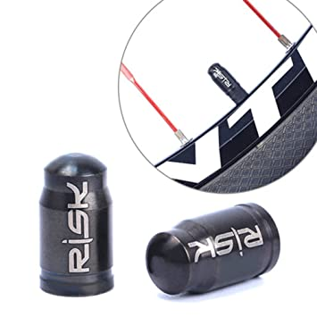 2 Pcs Bicycle Presta Valve Caps Stylish Aluminium Valve Cap Dust Covers for Bicycle Presta Valve