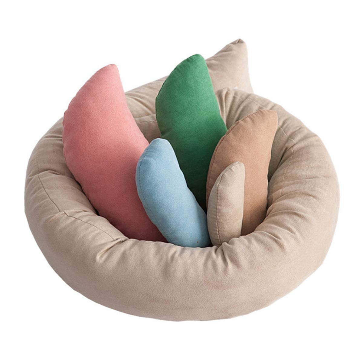 Multicolor Pack of 6 USDREAM Newborn Photography Prop Posing Beans Bag Professional Baby Photo Posing Aid Pillow Photograph Shoot Set for 0-6 Months Baby