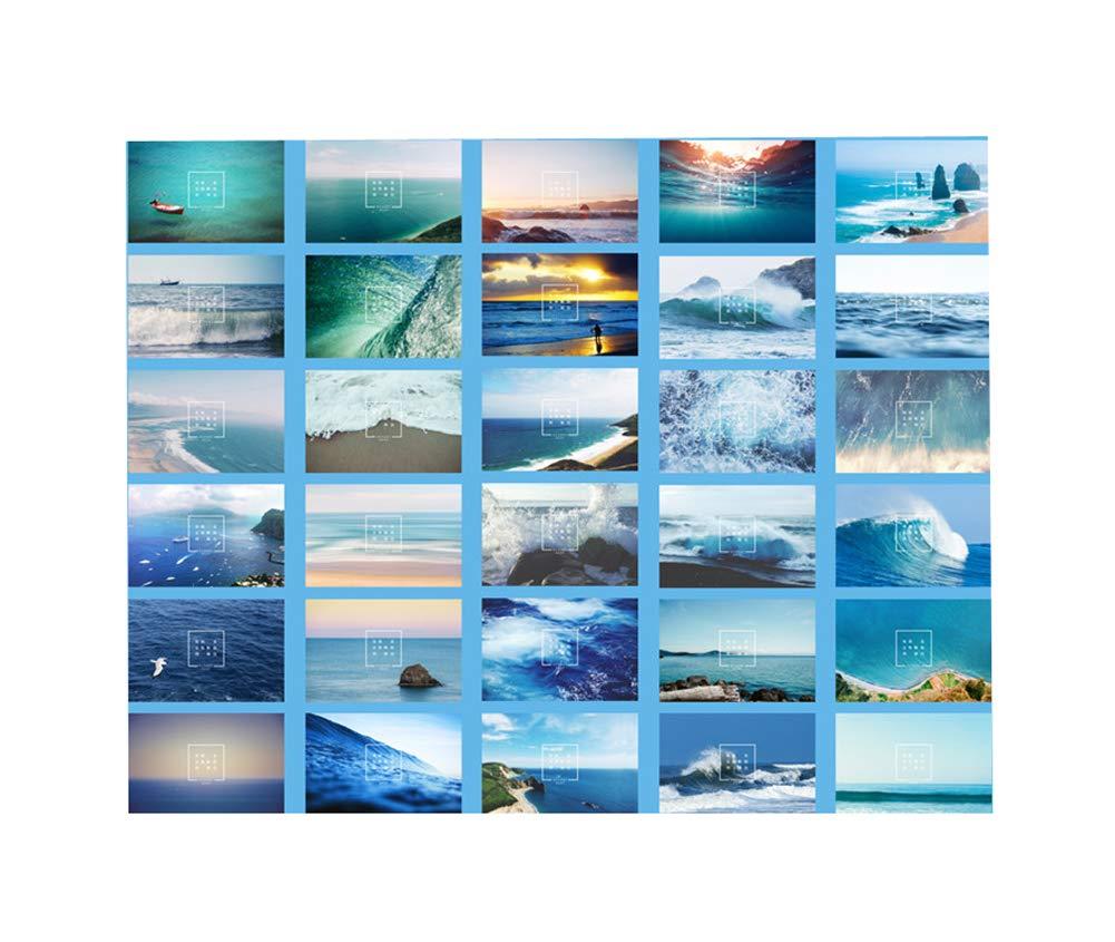 Cartolina da 30 pezzi, bellissimo colore mare, cartolina della benedizione Black Temptation