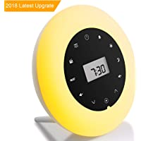 Premium Wake Up Light Alarm Clock Wake Up Lamp Radio White Noise Sound Sleep Light Bedside Lamp Colored Mood Light Sunrise Sunset Simulation Touch Control Multifunction