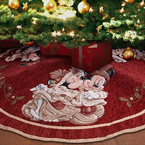 Disney Park Mickey Minnie Mouse Victorian Tapestry Christmas Holiday Tree Skirt by Disney Parks (Image #1)