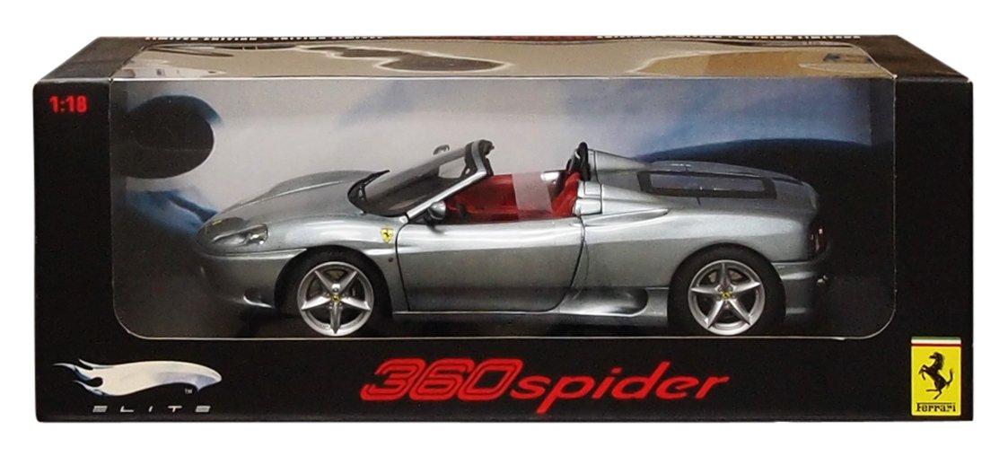 Hotwheels – p9903 p9903 p9903 – Fahrzeug Miniatur – Elite – Mattel – Ferrari 360 Modena Spider – grau – Maßstab 1/18 d4b9d4