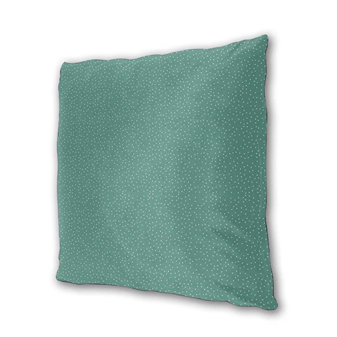 Myhou Throw Pillow Case, Winter Green Snow Square Solid Cushion ...