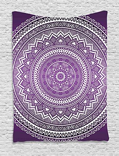 Ambesonne Tapestry Mandala Vibrant Inspired
