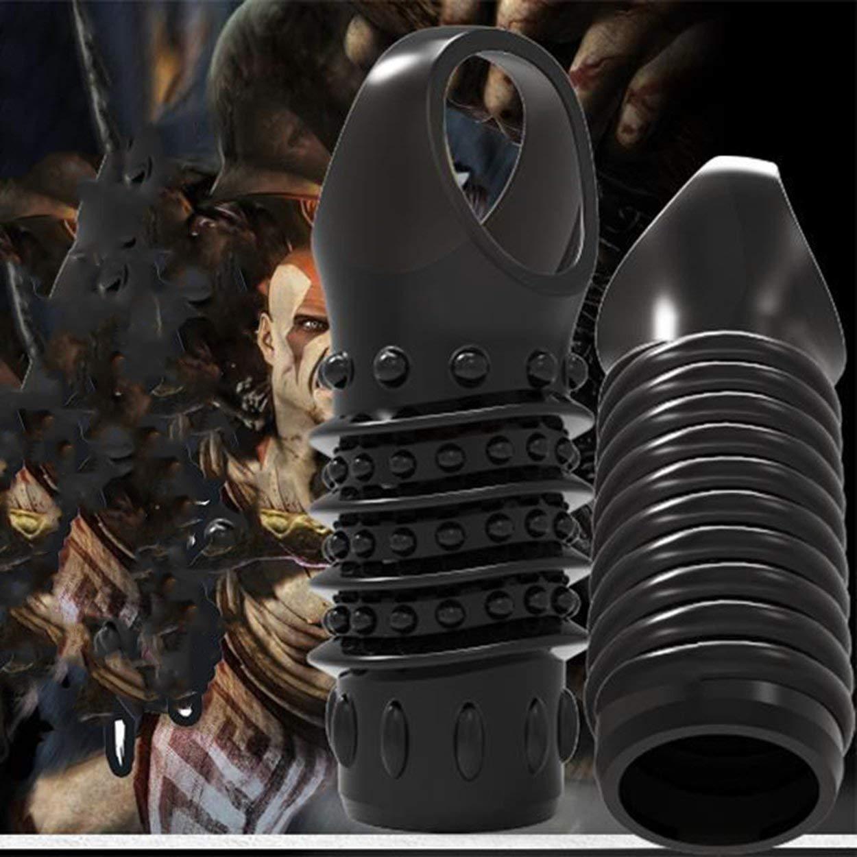 2pcs vibrazione della copertura del pene manica manica manica del pene anello ritardare la stimolazione extender prodotti del sesso giocattoli adulti del sesso per gli uomini 99bece
