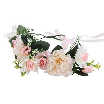 Women/'s Bohemian Wreath Floral Crown Head Flower Bridal Garland Hair Accessories