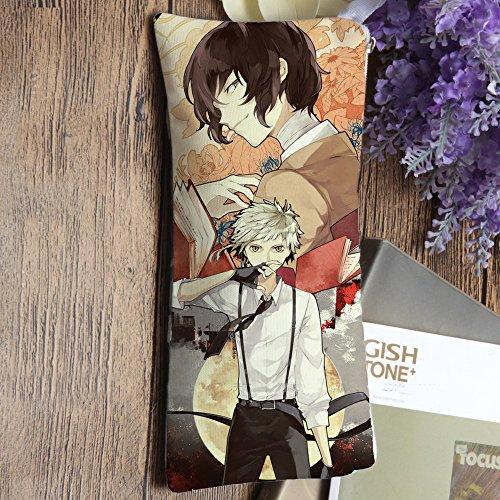 Pencil Case Zipper Pen Bag Pouch Mobile Phone Bag Coin Purse for Anime Bungou Bungo Stray Dogs Osamu Dazai Atsushi Nakajima Cos Gift Double-Side (Dog Mobile compare prices)