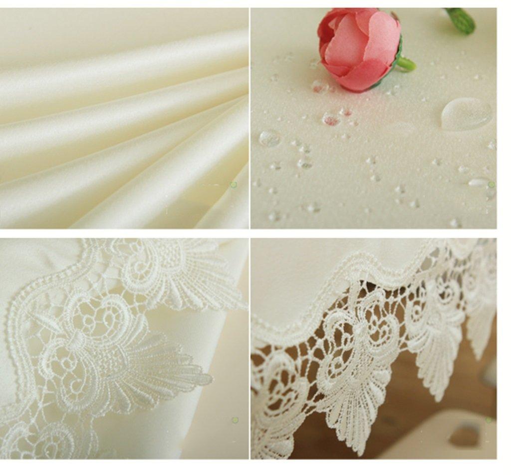 GYP Tischdecke Vorzügliches wasserlösliches Spitze-Tischdecke wasserdichtes Tabellen-Tuch Tabellen-Tuch Tabellen-Tuch Art- und Weisetuch-Tischdecke-Kaffeetisch-Tuch ( Farbe   Weiß , größe   130180cm ) 4990e5