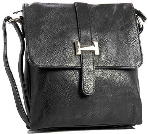 Crossbody Delle Bag Messaggero Donne Del Sacchetto kl586 Spalla Di Multitasche Nero Negozio Grande xAZqc4Swvn