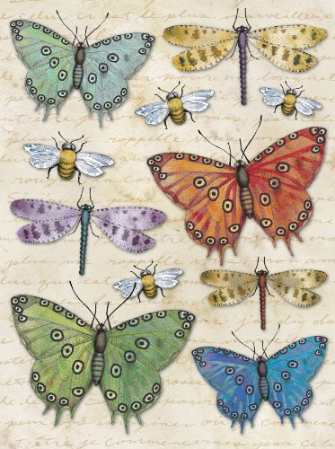 K&Company Tim Coffey Blossomwood Butterfly Grand Adhesions Stickers