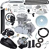 T4B 80cc 2 Cycle Petrol Gas Engine Motor Kit for Motorized Bicycle Bike Silver Body