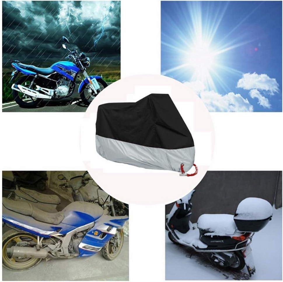 Harddo Housse de Protection imperm/éable pour Moto 190T Anti-poussi/ère et Anti-Rouille et Anti-UV avec Trous de Verrouillage Compatible avec Toutes Les Motos