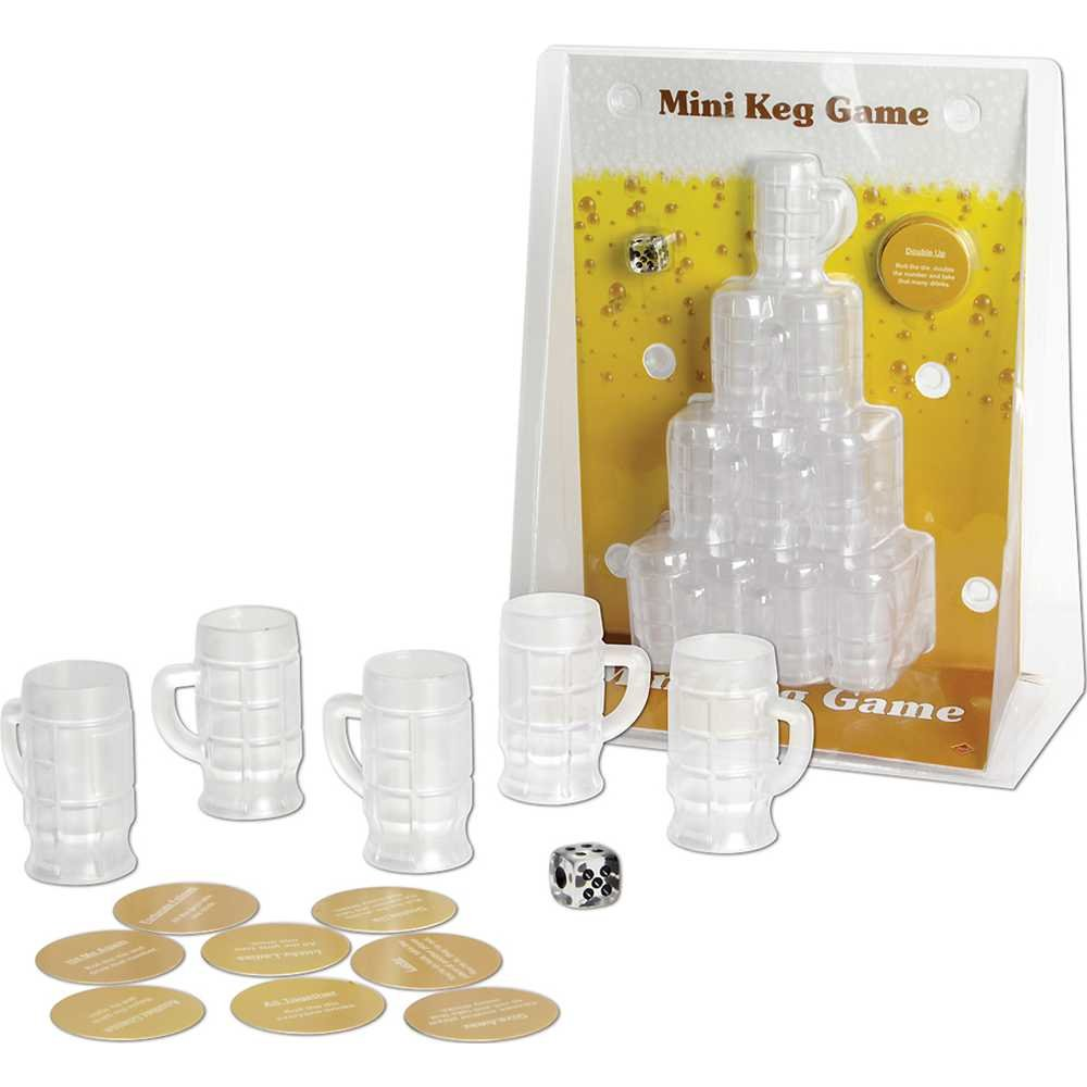 30 Mini Kegs, 8 Consequence Coasters /& 1 Die 1 count Mini Keg Game Includes: 1//Pkg The Beistle Company 66690 Party Accessory