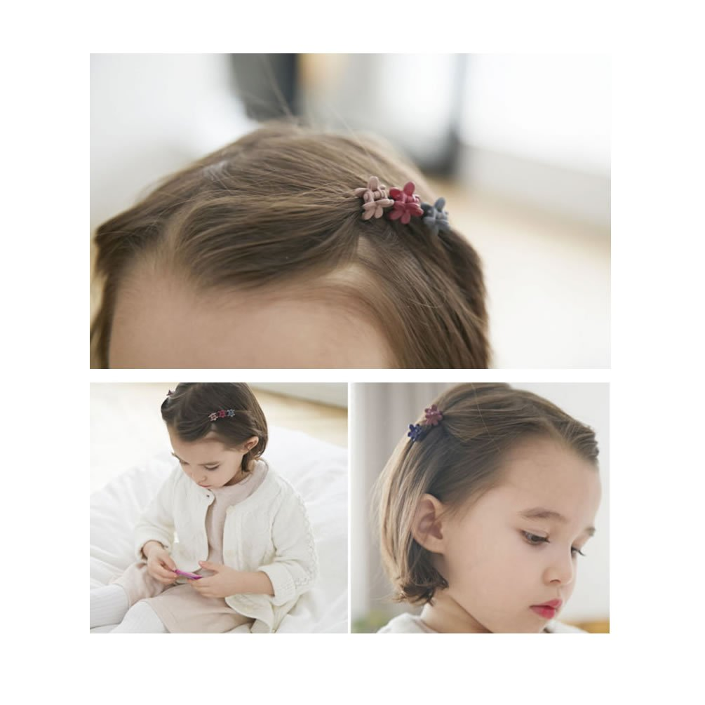 inSowni Mini Hair Claw Clips Flower Rabbit Ear Rhinestone Barrettes for Baby Girl Toddler Infant Kids (60PCS S3) by inSowni (Image #3)