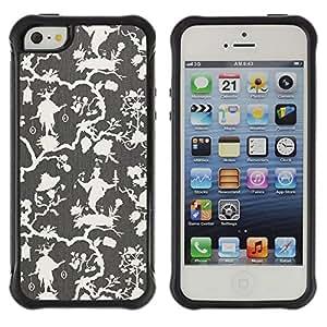 "Pulsar iFace Series Tpu silicona Carcasa Funda Case para Apple iPhone SE / iPhone 5 / iPhone 5S , Beige de oliva Blanca Wallpaper"""