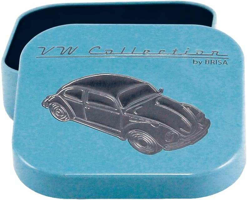 Brisa VW Collection Volkswagen Beetle Key Ring in Gift Tin Blue