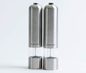 2Pk. JustNile Electric Battery Operated Salt and Pepper Mill Set