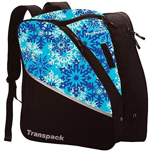 Transpack Edge Junior Ski Boot Bag 2018 - Aqua Snowflake