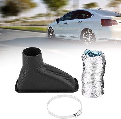 tuyau dadmission dair en fibre de carbone noir Kit dentonnoir pour voiture