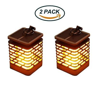 Lumières Solaires Flammes Vacillantes Pendaison Lanterne ...