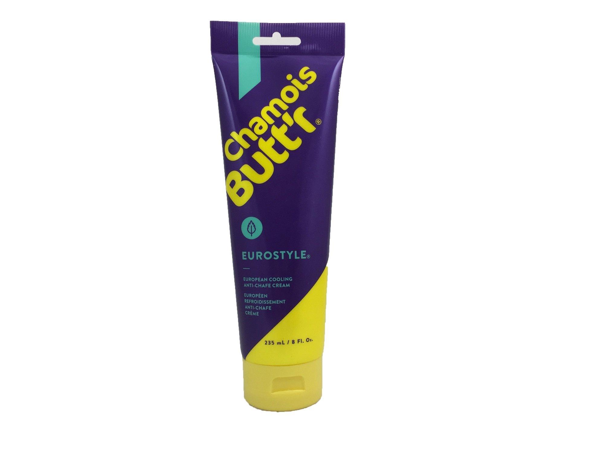 Chamois Butt'r Eurostyle Anti-Chafe Cream, 8 ounce tube