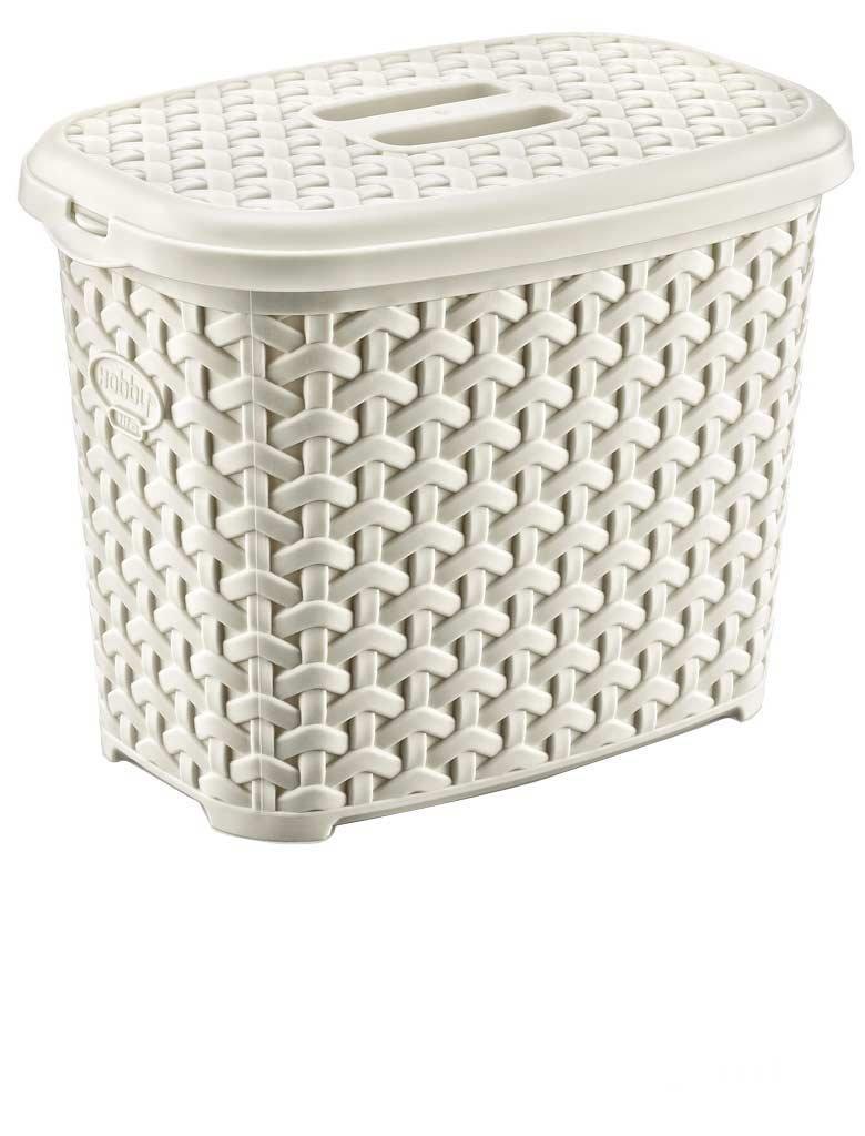 Maya Professional Tools 081081b Detergent Rattan Large Basket with Lid, 6 Litres, Beige 6Litres es biss MBYMX