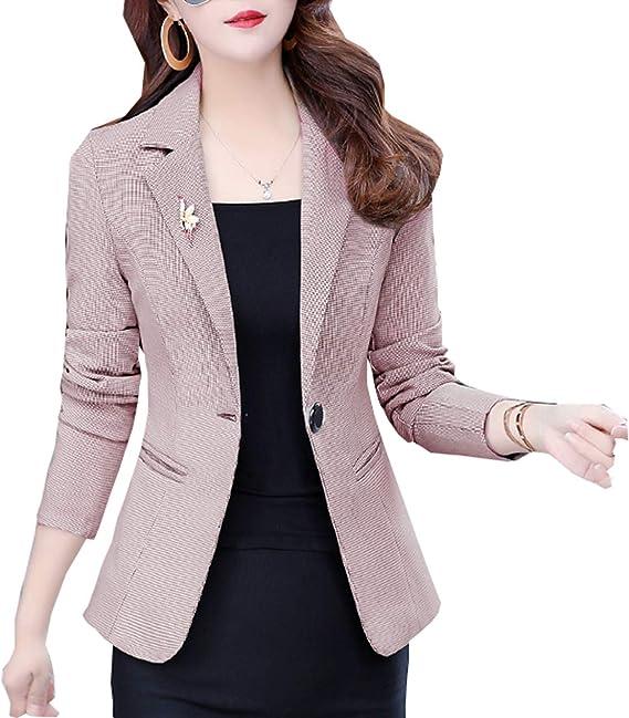 Amazon.com: SHUIANGRAN - Blazers de trabajo para mujer, de ...