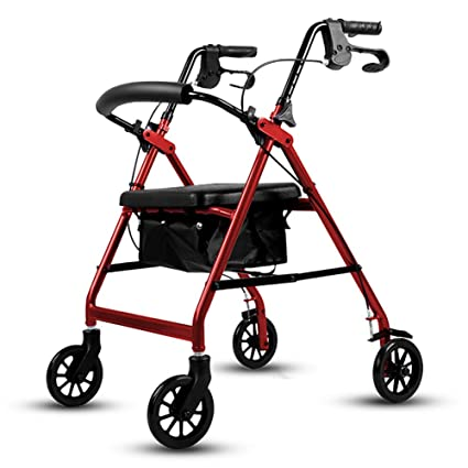 Amazon.com: DMZH Rollator Rolling Walkers with Seat & Bag ...