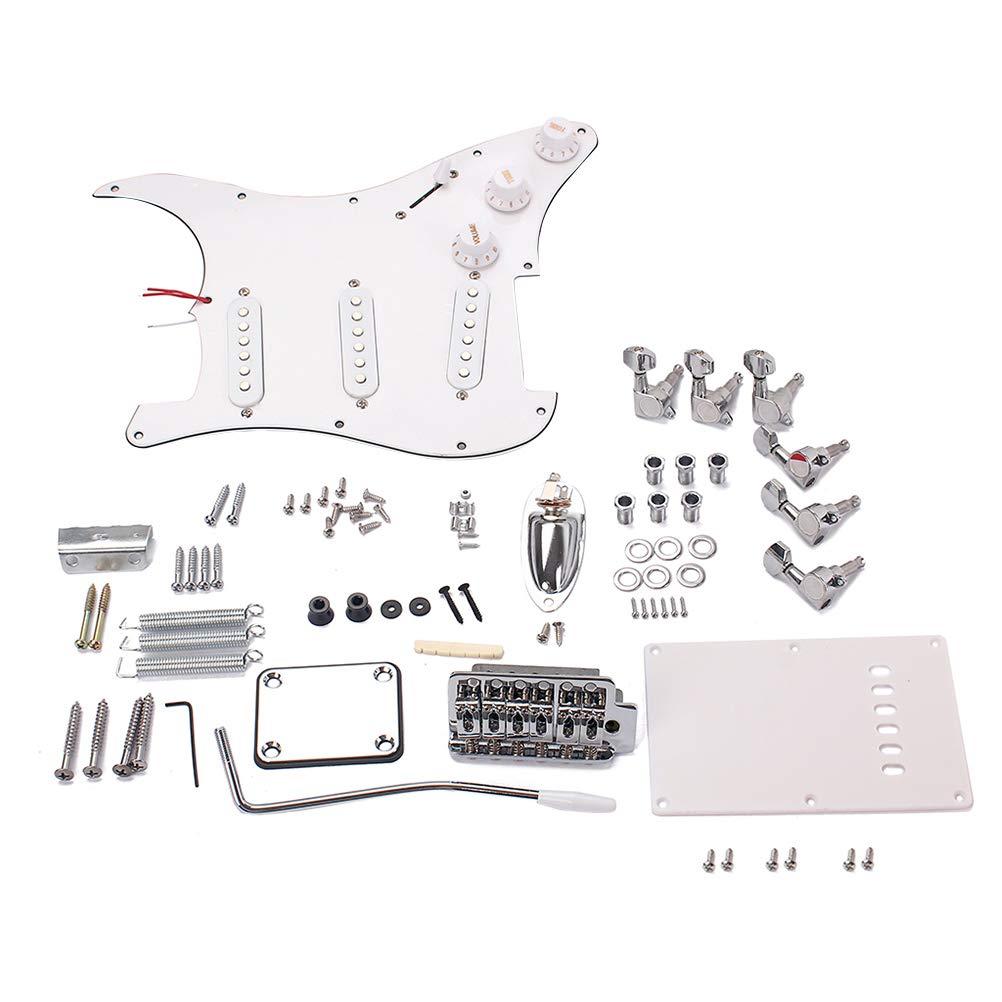 SUPVOX Montaje Completo para Guitarra Eléctrica Estilo ST (Blanco): Amazon.es: Instrumentos musicales