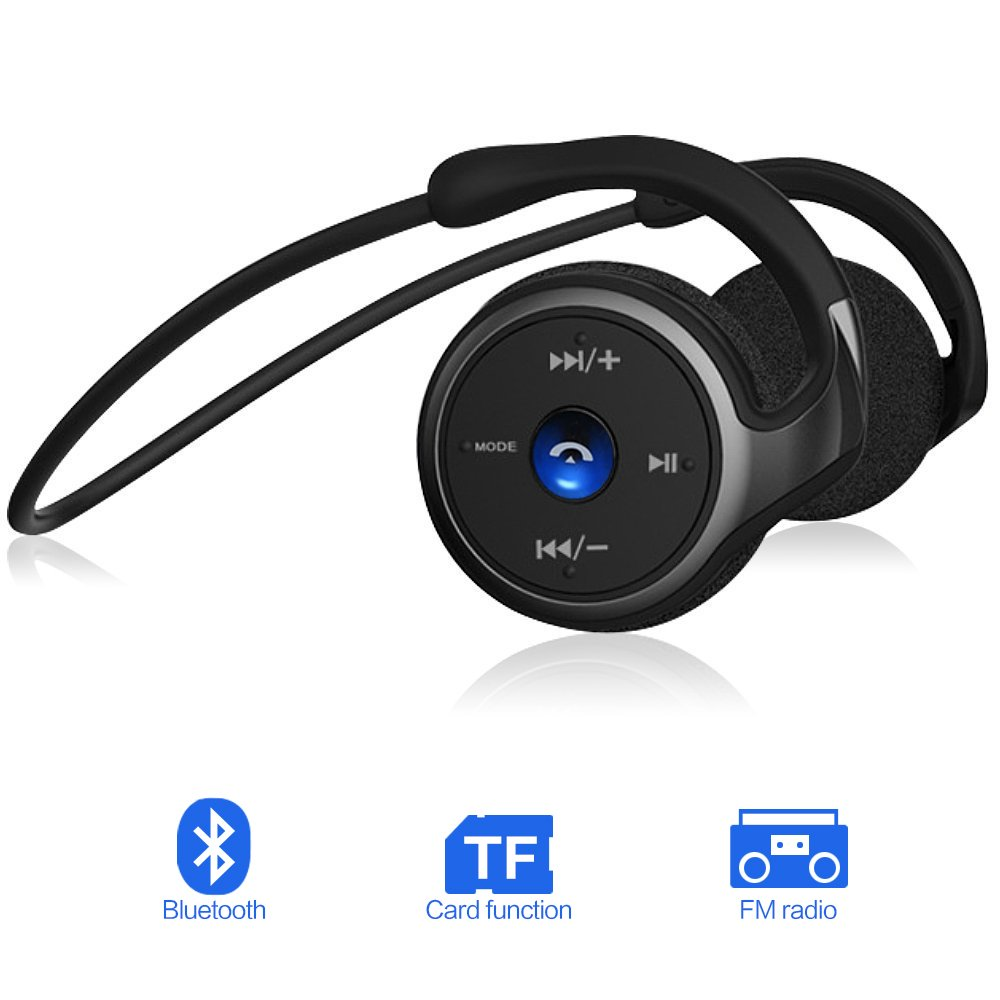 Auriculares Bluetooth 4.1, 3-en 1 Estéreo Auricular Deportivo, Cascos Inalámbricos...