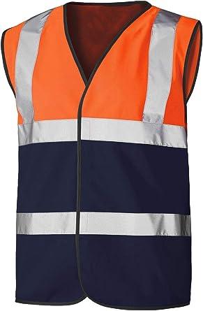 Mens Hi Vis Work Waistcoat Vest High Visibility Adult Reflective Safety Top Vest