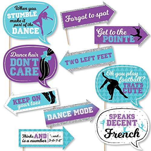 Funny Must Dance to the Beat - Dance - Birthday Party or Dance Party Photo Booth Props Kit - 10 Piece]()