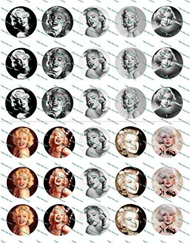 30 Precut Images Marilyn Monroe Set 1 -
