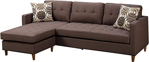 Benjara Polyfiber Sectional Sofa