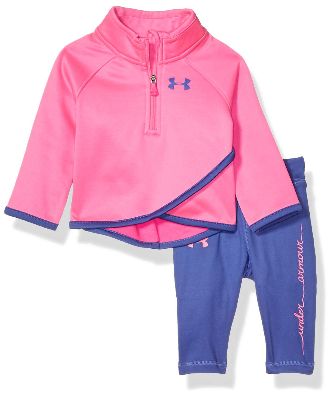Under Armour Baby Girls Long Sleeve Tricot and Legging Set, Chaos f19, 12M by Under Armour