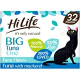HiLife It's Only Natural Cat Food The Big Tona One, 32 x 70 g påsar