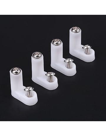 100pcs 2 cm pies de montaje de tarjeta PCB Tipo L de plástico blanco con tornillo