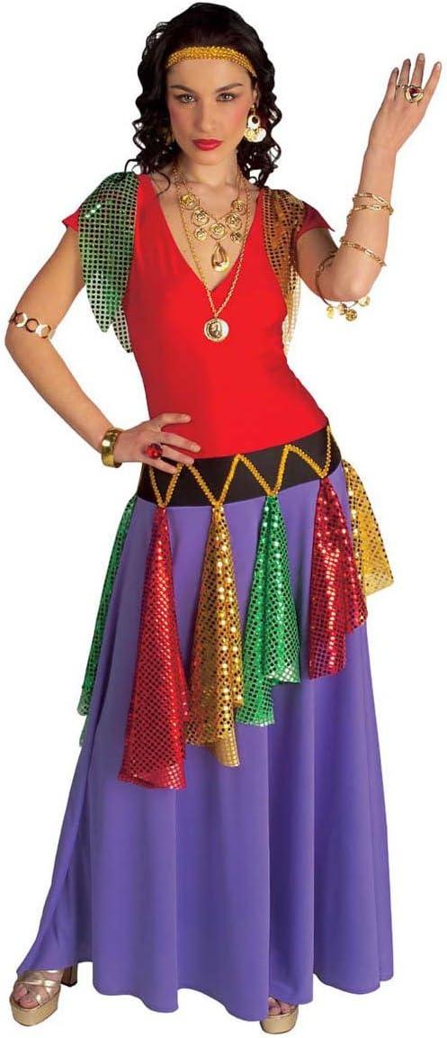 WIDMANN Disfraz de Reina Gitana Carnaval: Amazon.es: Juguetes y juegos