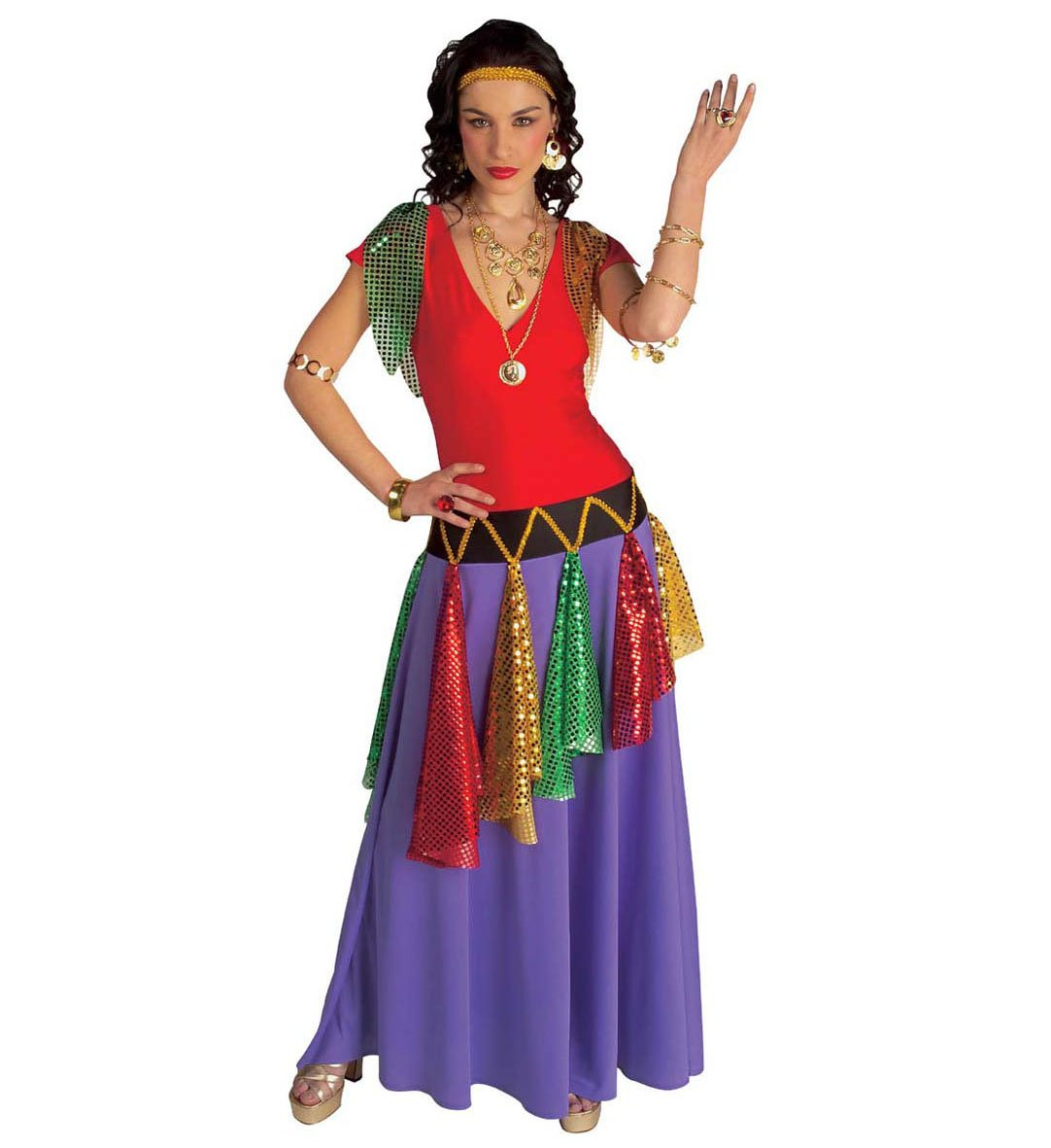WIDMANN Desconocido Disfraz de Reina Gitana: Amazon.es: Juguetes y ...